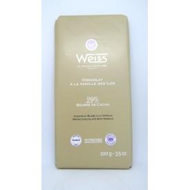 Tablette Chocolat Blanc Vanille des Îles 29%, 100g